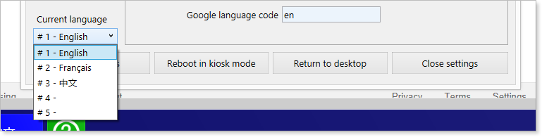Windows Kiosk Language Selection