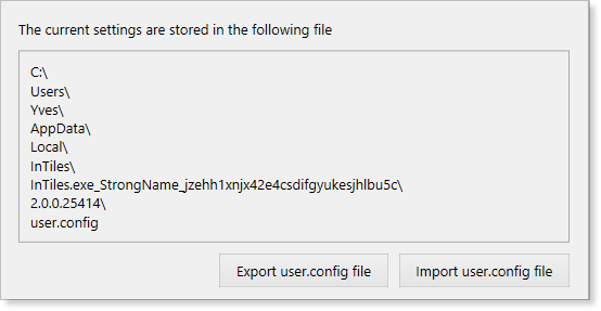 InTiles 2 - Kiosk Software Settings - Export Import